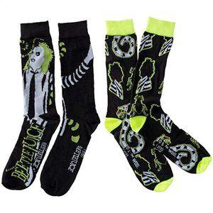 2 Pairs Beetlejuice Socks